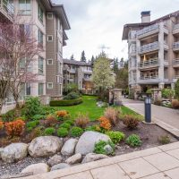 Modern apartment buildings in Vancouver, British Columbia